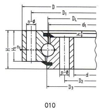 Single-Row Ball Four-Point Contact Ball Slewing Bearing