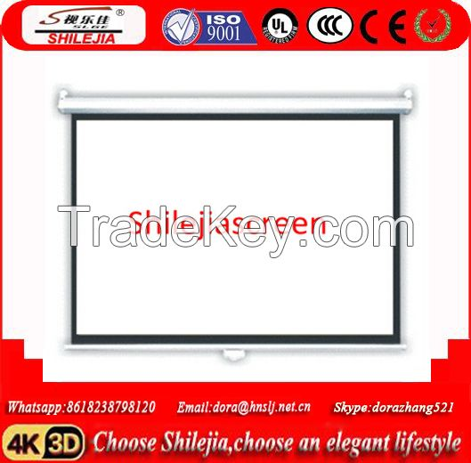 4:3 Matte White Overhead Professional Manual Projector Screen