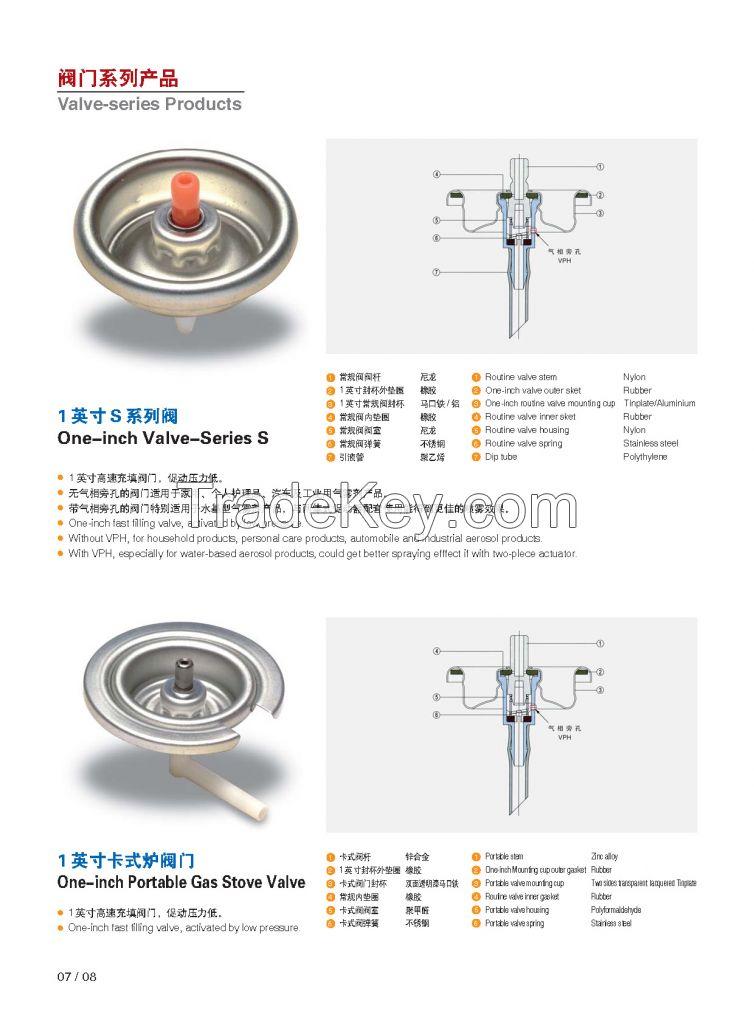 Spray aerosol valve