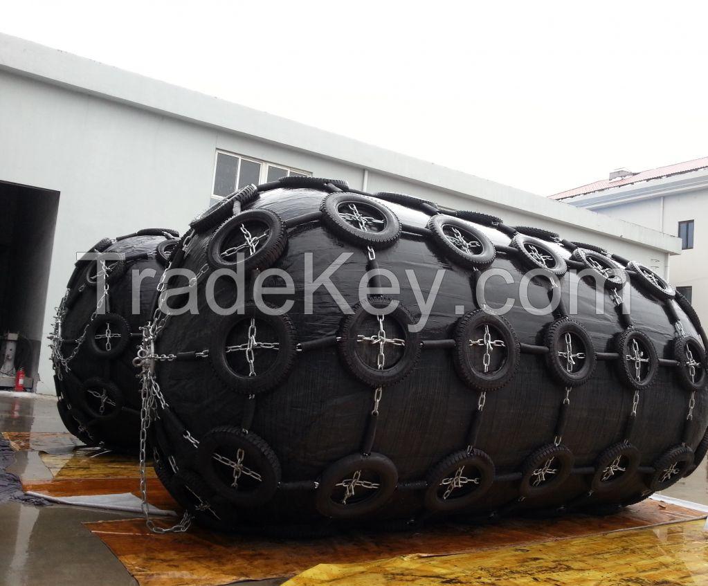 Yokohama Pneumatic floating fender with patent design