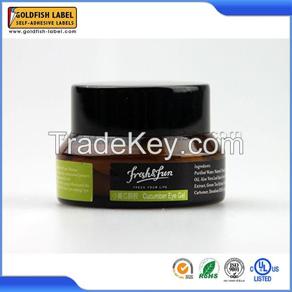 Custom cosmetic bottle label sticker