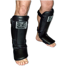 Top Contender Leather Shin/Instep Guards (adult)