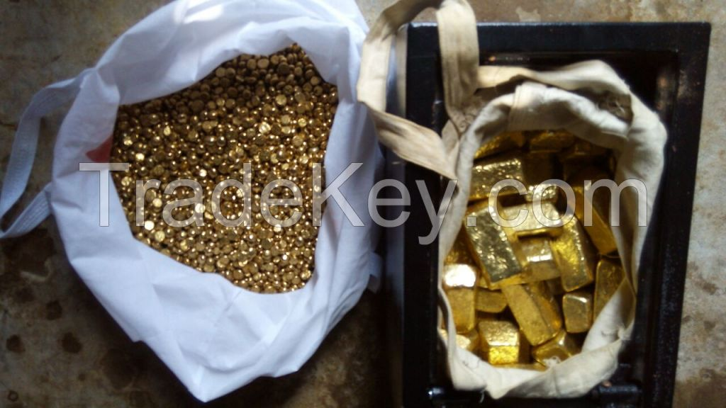 Gold Bars and nuggets for export