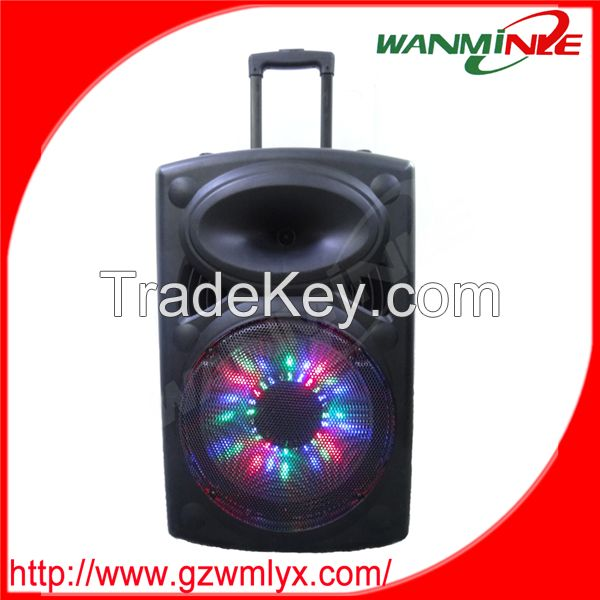 15inch Bluetooth professional speaker 2.0 outdoor stage trolley loudsp