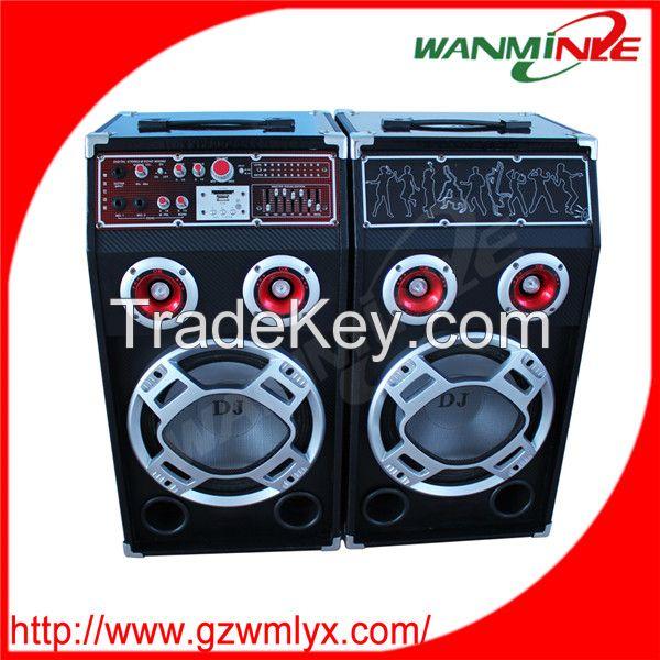 Hot sale stage sound box 2.0 active audio speaker professional speaker