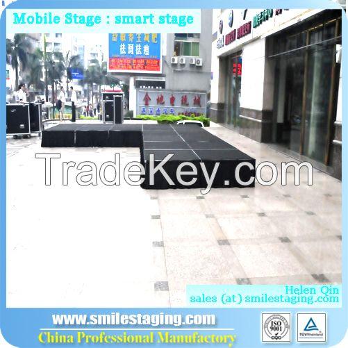 Portable stage mobile stage wooden platform stage