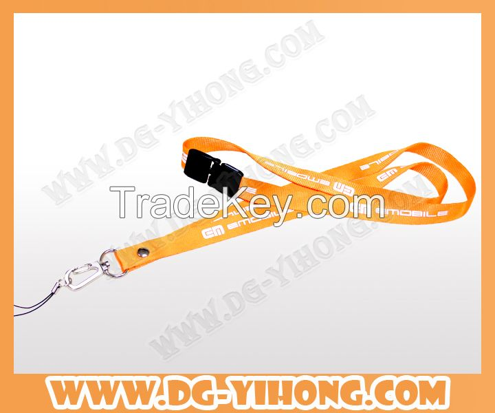 wholesale merchandise custom sublimation printing polyester lanyard with printed emoji as gift