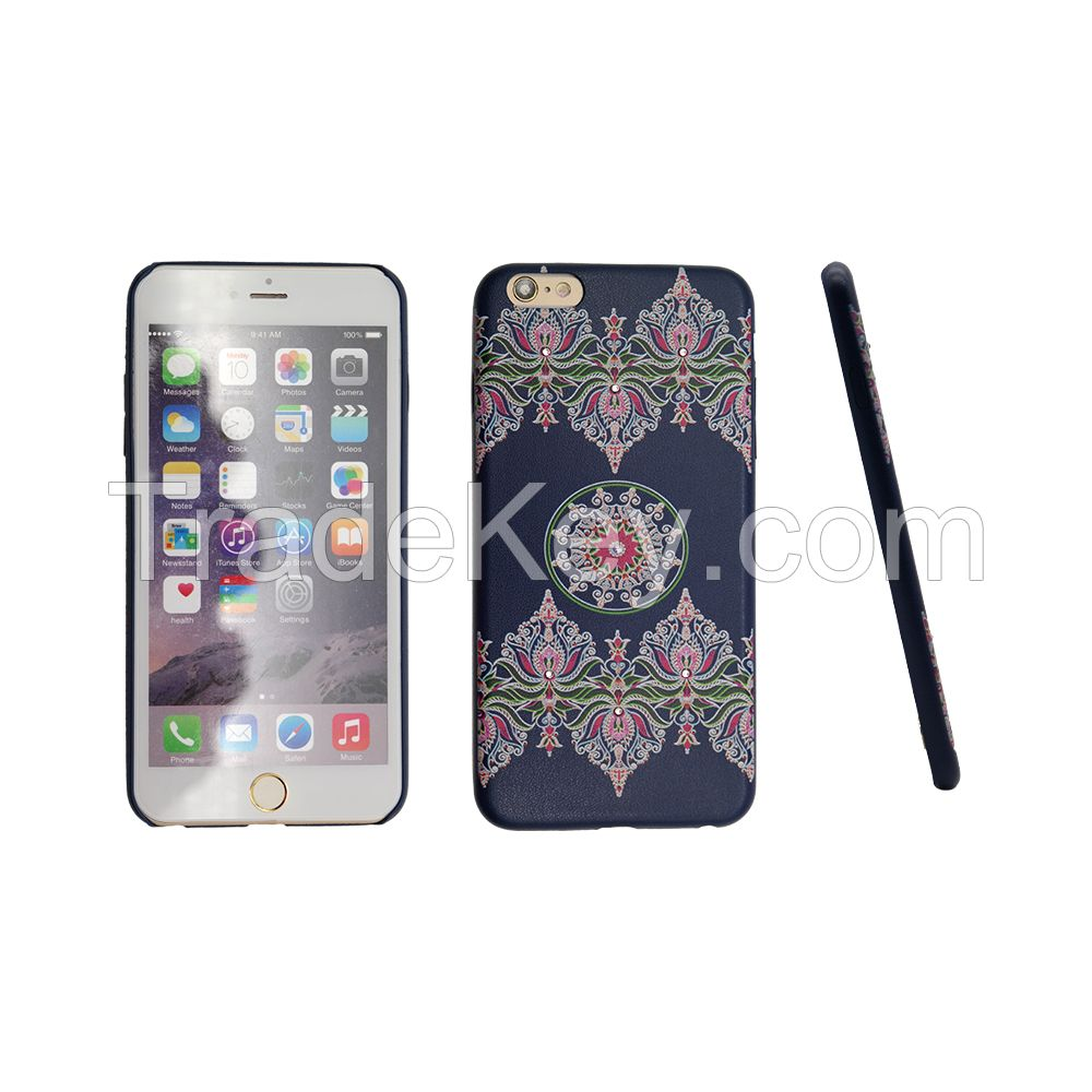 PU diamond phone case for iphone