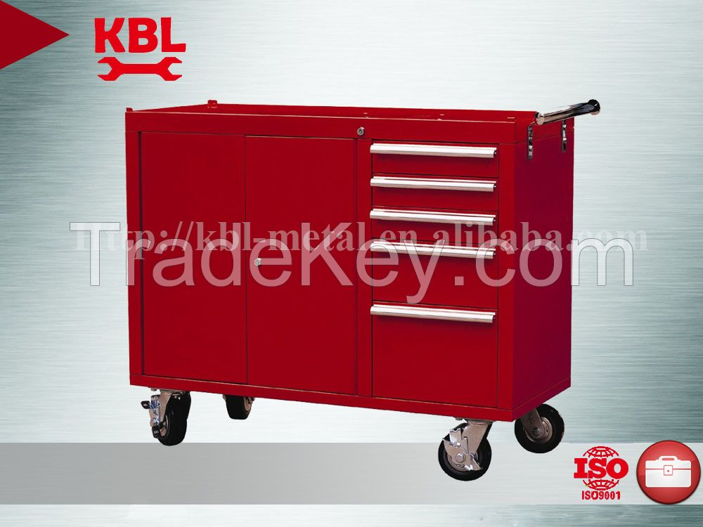 Metal tool cabinet with 4 wheels/handles/drawers