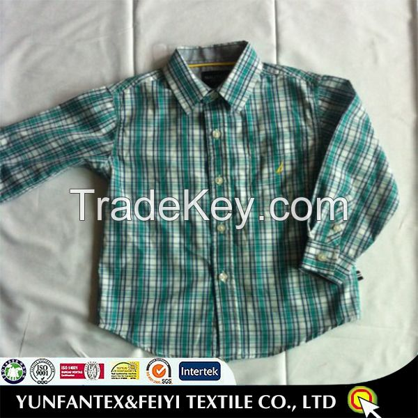 2015 latest super 100 cotton long sleeve casual children shirt
