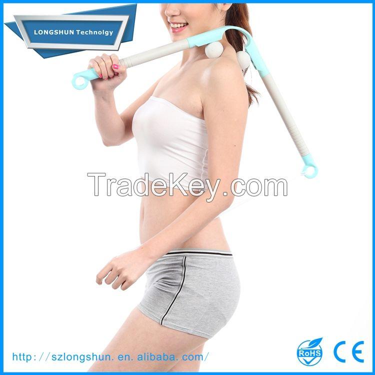 hand held adjustable back and shoulder massager stick