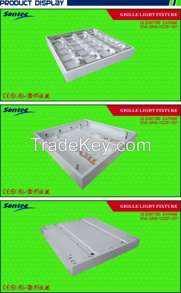 Led T8 Lighting Fixtures Office Grid Louver