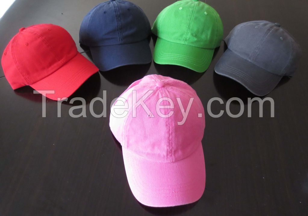 design your own washed baseball cap
