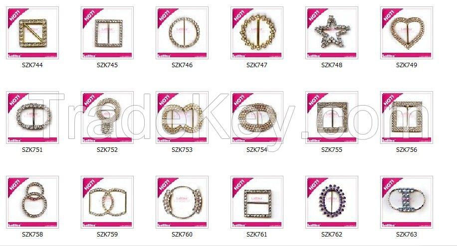 Popu crystal rhinestone ribbon buckle with DIY Jewelry for wedding dec