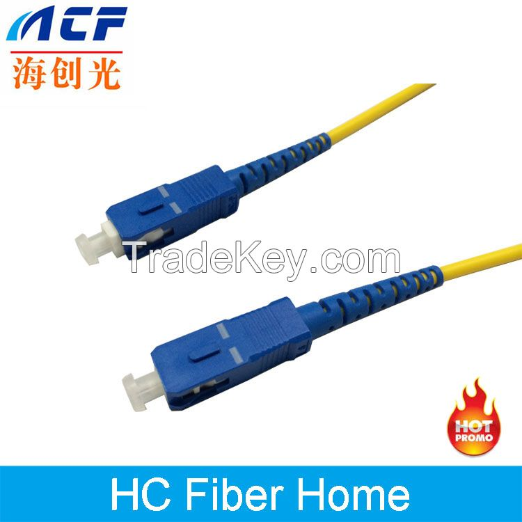 Qulified SC-SC SM SX 3.0mm Diameter 2 Meters Length Fiber Optic cable