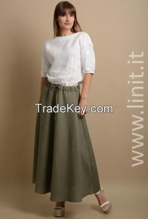 linen skirts made in Italy