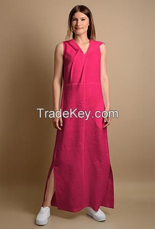 casual dresses 100% linen. Designed and manufactured in Italy.