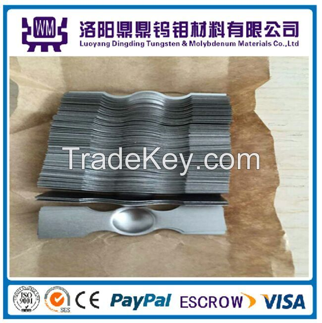 High Quality 99.95% Molybdenum Boat and Tungsten Boat for Evaporation in Furnace From China Manufacturers