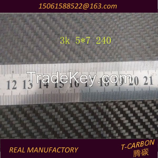 Factory Supply 3K 200G Twill/Plain Carbon Fiber Fabric/Cloth