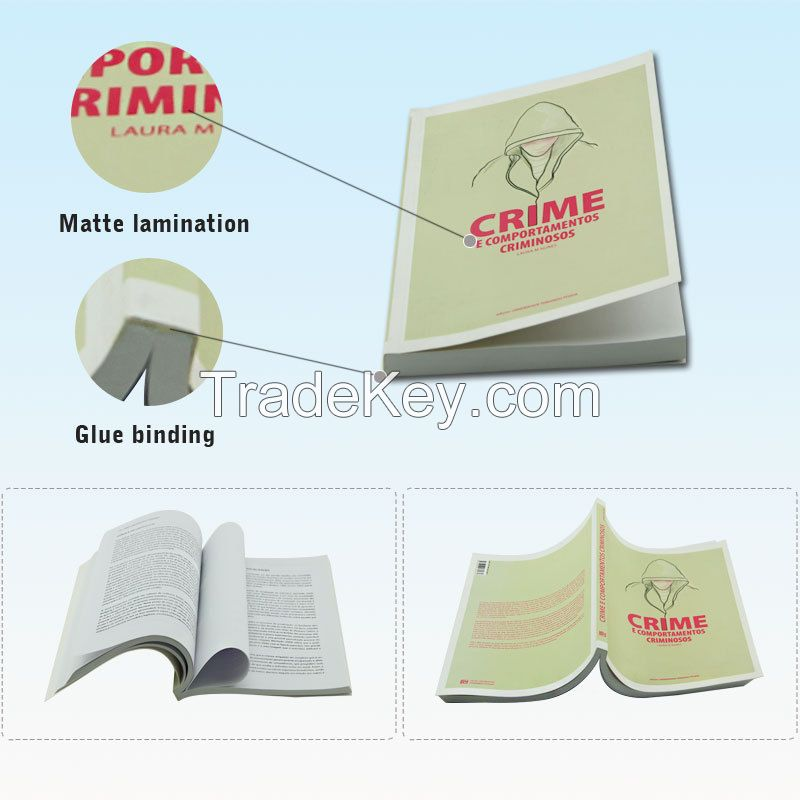 Professional Book Printing Soft Cover Perfect Binding