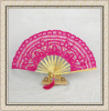 Bamboo Based Craft Fan By Hand Embroidery