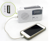 RD369 Solar Rechargeable Emergency Hand Crank Powered AM/FM Radio with LED Flashlight Alerted and Cell Phone Charger