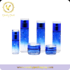 Blue Gradient color Glass 50g 100ml skin care Cosmetic Glass bottle with pump