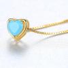 Gemstone Necklace, Heart Necklace-06