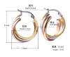 Triple Ring Hoop Earring