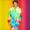 custom made Poly Cotton Tie dye hoodie short set