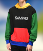 Multi color panel custom logo Fleece hoodie