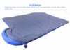 Soft polyester outdoor sleeping bag for 5-20 degrees Celsius