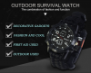 Hot sale wholesale manual survival outdoor equipment military watch, customized design multi-functional paracord Watch