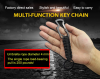 survival climbing button carabiner paracord keychain, paracord keyring for paracord Mountain buckle camping