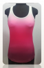 high quality custom logo sublimation printed workout shirts women fitness gym tank top