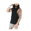 customise men warm gym fitness sleeveless hoodie pullover fleece french terry cotton velour/velvet