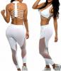 custom OEM Women sexy Yoga Set Crop Top Leggings Sports Bra Set gym fitness workout Brazilian jump suit pant running