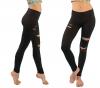 custom OEM gym Yoga fitness legging pant sublimation solid ankle full length tight phone pocket high low waist