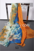 2016 New Fashionable Sexy Scarf Gift embroidered silk scarf