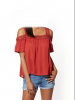 2018 red design blouses and top