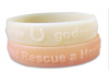 Embossed Silicone Bracelet Promotional Gift
