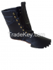 Leather boot shoe upper