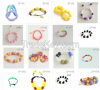 Silicon Necklaces, pendents and bracelets for teething and chewing