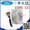 newest product 2p 0.5mm BC  CCA Ethernet telephone cable