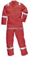 cotton fire retardant coverall with reflective tape
