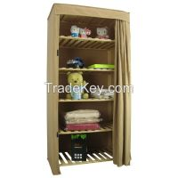 SELL Single Heavy Duty Covered Clothes Wooden Frame Wardrobe