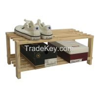 Sell Tier Part-Assembled Shoe Rack- Solid Unfinished Pine