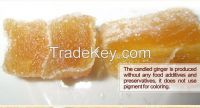 crytallized and soft candied healthy ginger, origin from weihai, China, natural and organic