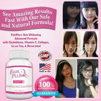 FairPlus - Skin Whitening Pills Advanced Formula for Fair and Beautiful Skin with Glutathione, Vitamin C, Collagen, Green Tea, & Resveratrol. Safely and Effectively Whiten the Skin on Your Face & Body from Within. (60 Capsules)