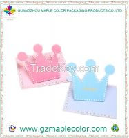 2015 creative crown cute greeting cards printing